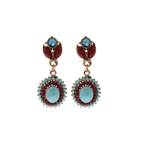 Red & Blue Drop Earring