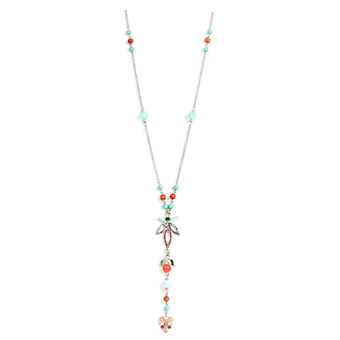 Coral and Acqua Necklace