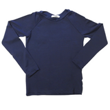 Kids UV Protection Long Sleeve Swim Shirt with SPF 50 - Navy blue