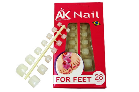 Artificial toenails (28 units) - set of 2 pcs