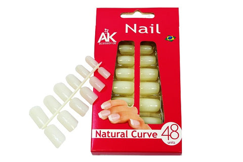 Artificial nails - Natural Color (48 units) - set of 2 pcs