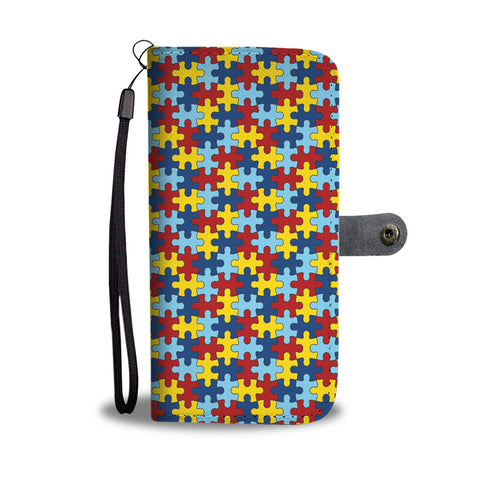 Autism Puzzle Phone Wallet Case