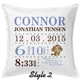 Baby Birth Info Pillow