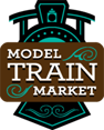 Model Train Market online website logo indicating model trains for sale