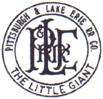 P&LE Pittsburgh & Lake Erie Railroad Company Logo
