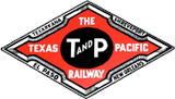 T&P The Texas & Pacific Railway Railroad Company Logo