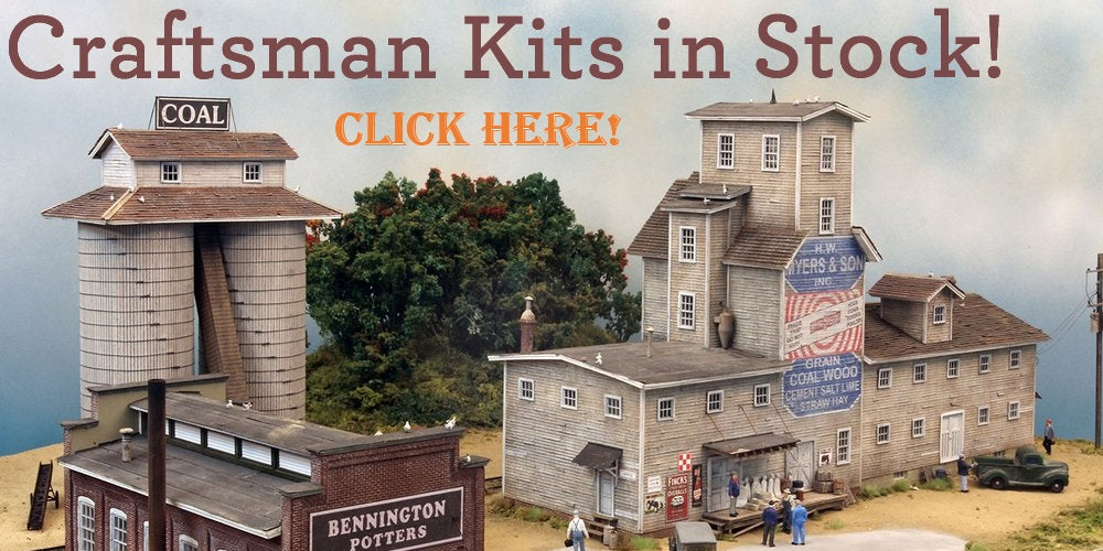 HO Scale Model Train Craftsman Building Kits from FSM Fine Scale Miniatures SRMW Sierra West