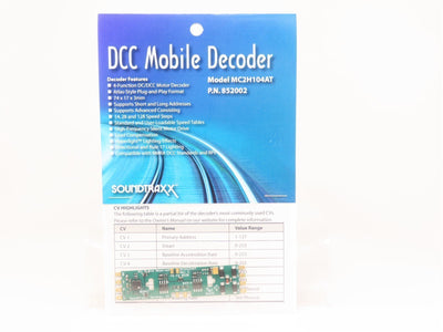 Soundtraxx MC2H104AT #852002 4-Function DCC Mobile Decoder Only