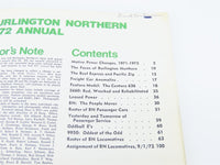 BN Burlington Northern 1972 Annual ©1974 SC Book - Model Train Market