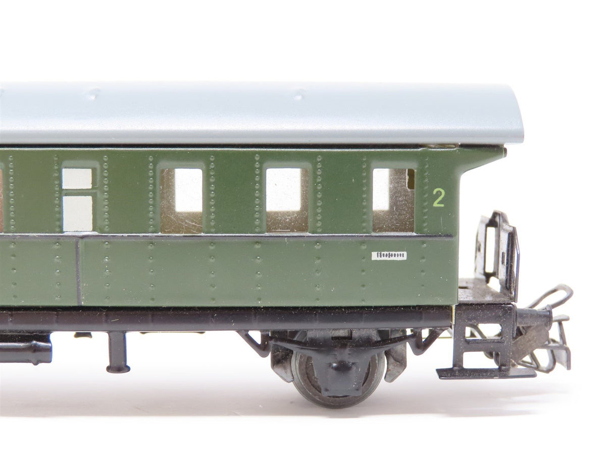 HO Scale Vintage Marklin Metal 2nd Class Coach Passenger Car #4002 - Model Train Market