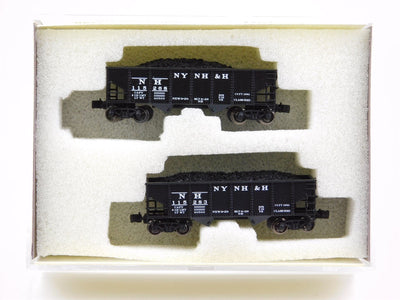 Z Scale Full-Throttle #2038 NH NEW HAVEN 33' 2-Bay Hopper 2-Car Pack
