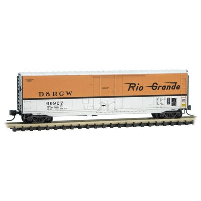 N Scale Micro-Trains MTL 03800561 D&RGW Rio Grande 50' Box Car #60927