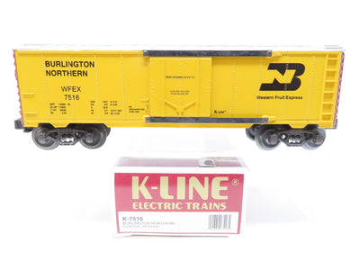 O Gauge 3-Rail K-Line K-7516 WFEX BN Burlington Northern Reefer #7516