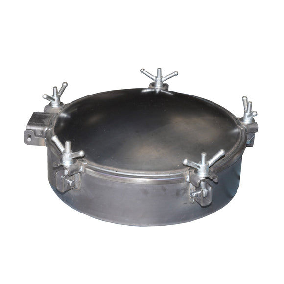 25 inch Chandler Manway  A36 Carbon Steel Lid, Gasket in Lid Robotically Welded Weldable 1/4