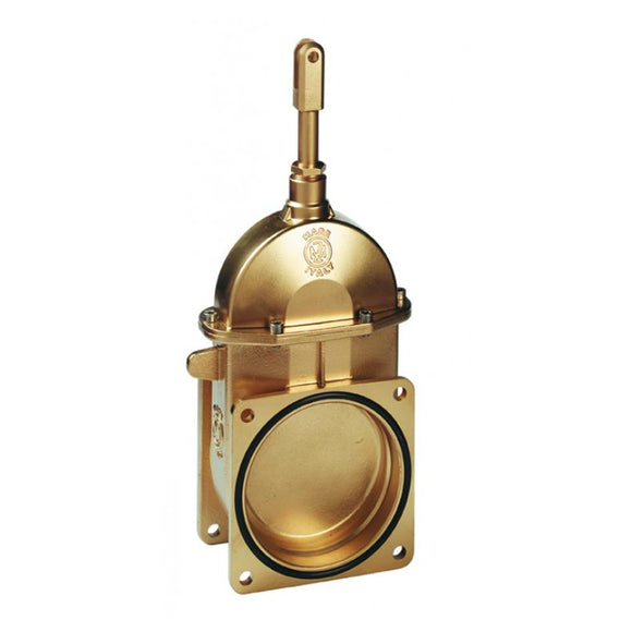 MZ Brass Piston Valve 4-Bolt Flange