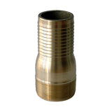 Combination Nipple (KC Nipple) - Male Not Threads x Hose Barb  Available in Zinc Plated, Stainless Steel, & Brass
