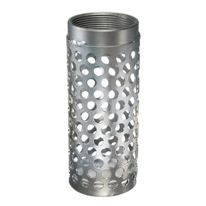 Gladiator Long Round Hole Zinc Plated Steel Strainer with Female NPT Threads