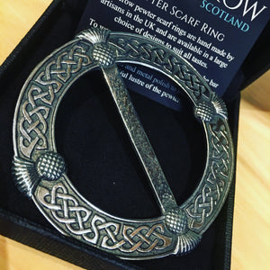 Celtic Thistle Scarf Ring