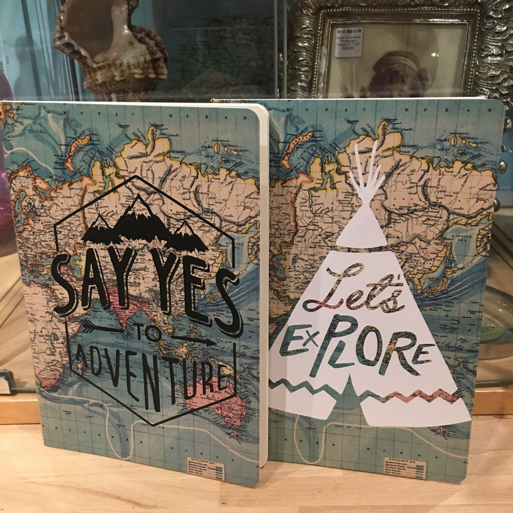 Pair of Adventure and Explore A5 Journals