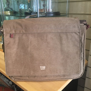 Messenger Flap Bag - Brown