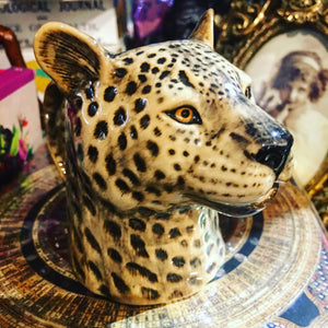 Ceramic Leopard Milk Jug