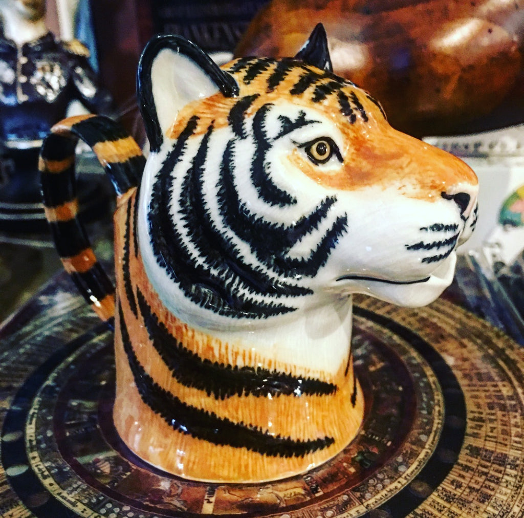 Tiger's Head Ceramic Milk Jug