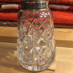 Lead Cut Crystal Silver Topped Sugar Shaker
