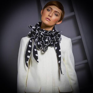 Sculptured Polka Dot Fleece Scarf