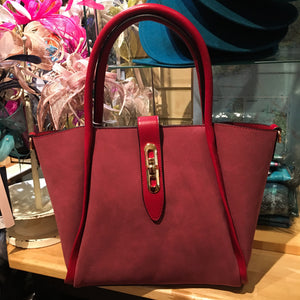 Red Cuckoo - Large Red Shoulder Bag