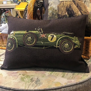 Cushion - Green No 7 Classic Car