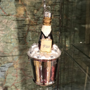 Champagne Decorative Bauble