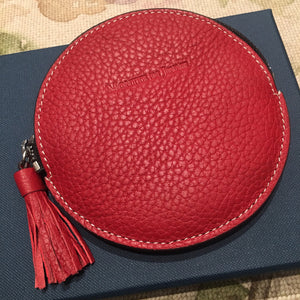 Red Leather Key or Coin Purse
