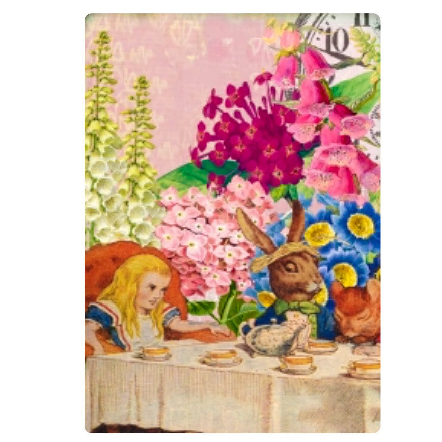 Card - Alice in Wonderland Tea Party