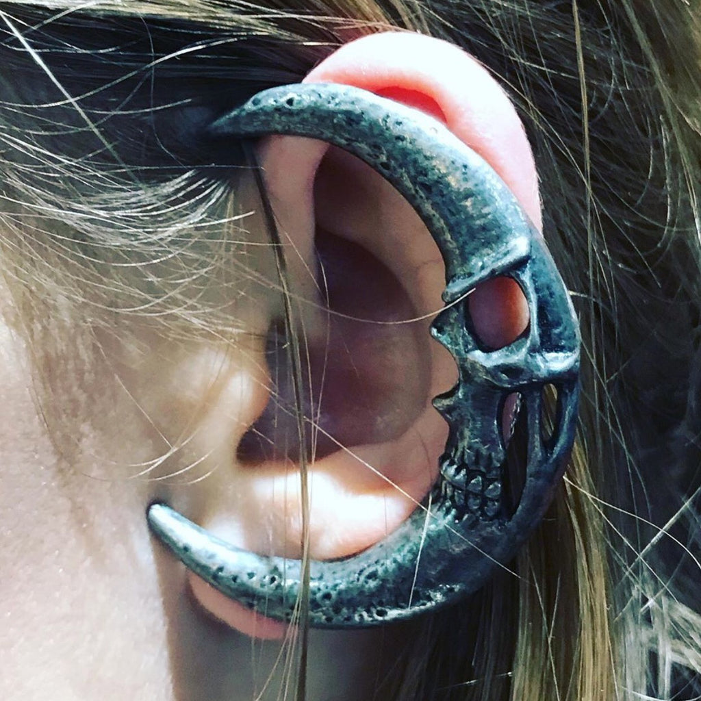 Pewter moon ear wrap