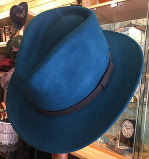 Crushable Fedora Hat - Teal