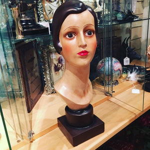 Art Deco Female Head On Stand