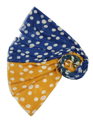 Scarf - Two Tone Dots - Mustard