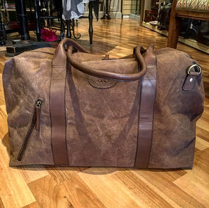 Canvass and Leather Trim Weekend/Tote Bag