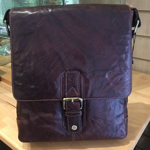 Trent cross body leather- brown large