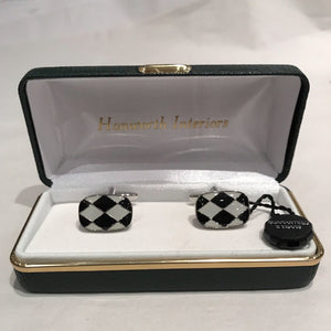 Black and White Harlequin Cufflinks