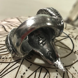 Baphomet pewter ring