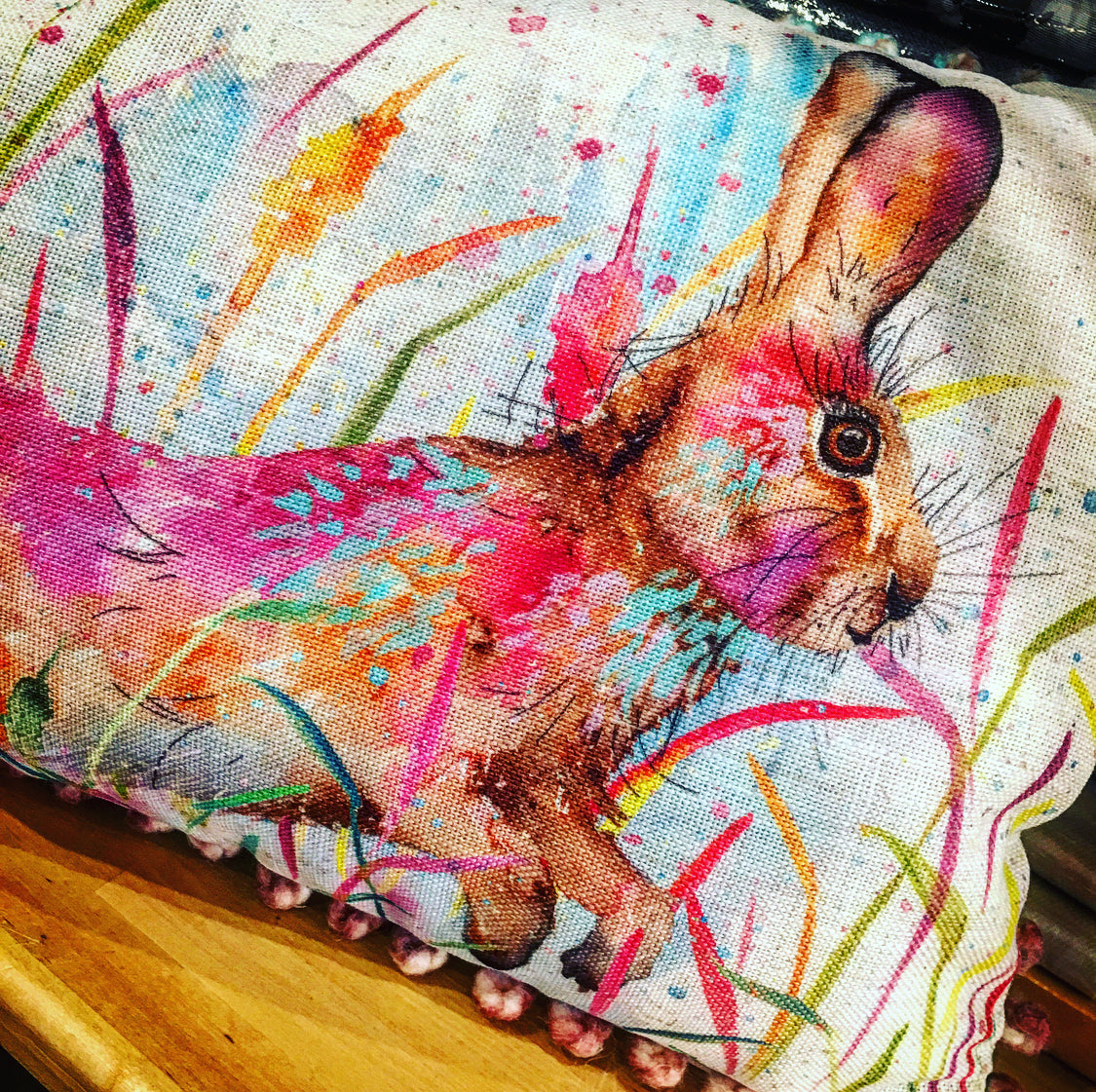 Cushion - Running Hare