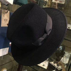 Boston Wool Fedora Hat With Wide Band