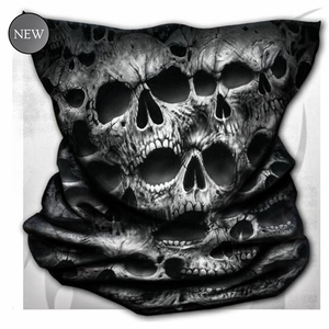 Face wrap snood twisted skulls