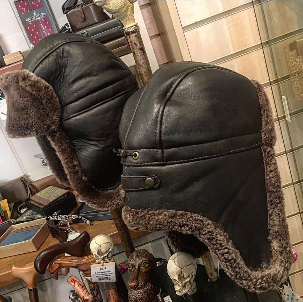 Leather Trapper Hat
