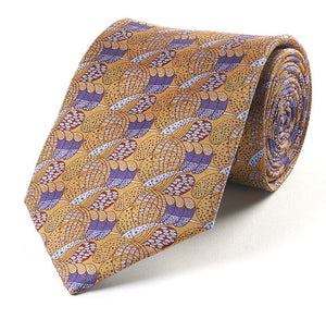 Silk Tie - Charles Rennie Mackintosh Gold/Purple