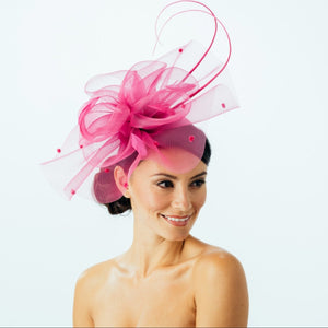 Butterfly Crin Fascinator on headband