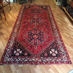 Shiraz Wool Rug - Terracotta/Black