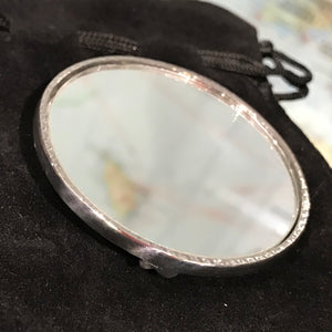 Pewter Art Nouveau Pocket Mirror
