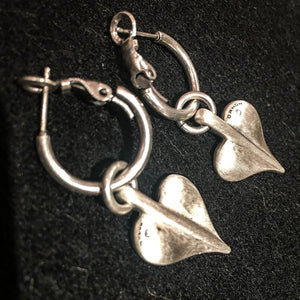 Danon Heart Hoop Drop Earrings